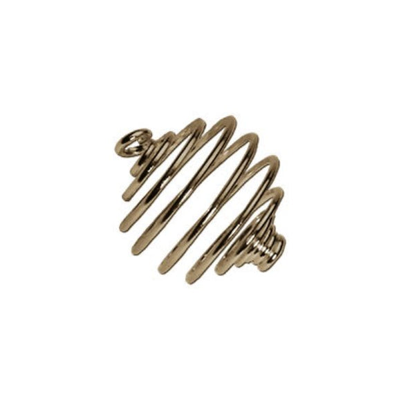 Spiral Bead Cages 10mm Gold or Silver Plate Pack of 10