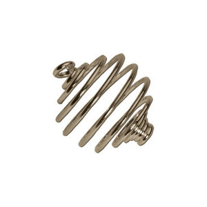 Spiral Bead Cages 12mm Gold or Silver Plate Pack of 10