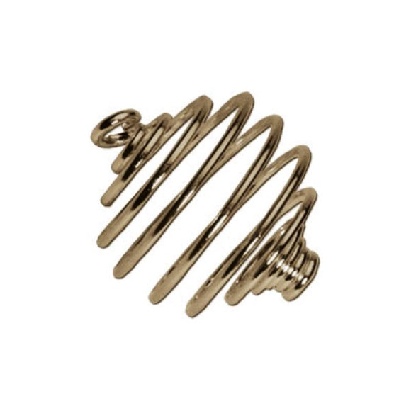 Spiral Bead Cages 14mm Gold or Silver Plate Pack of 10