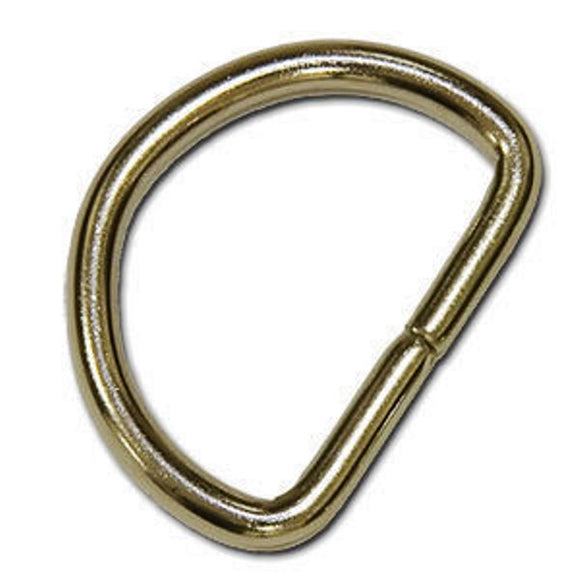 D Rings 25mm Unwelded Nickel Plated Pack of 10