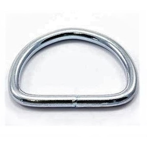 D Rings 25mm Welded Nickel Plated Pack of 10