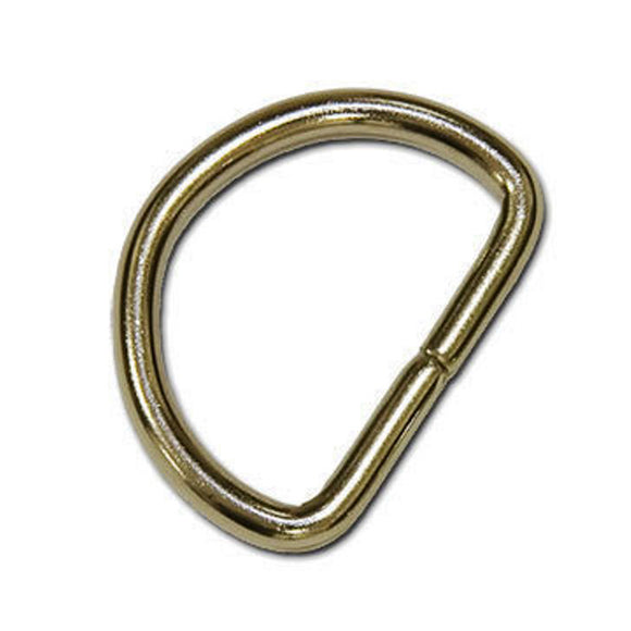 D Rings 20mm Unwelded Nickel Plated Pack of 10