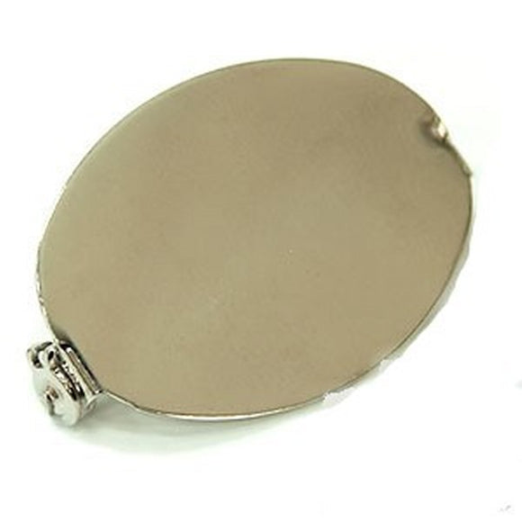 Brooch Backs Oval 32 x 23mm Gold or Nickel Plate pack of 10