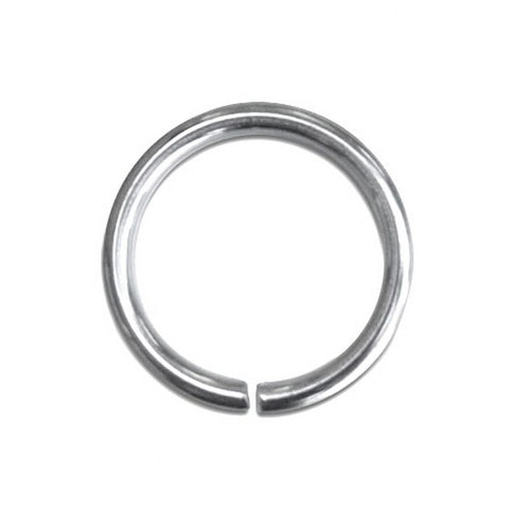 8mm Medium Duty Jump Rings Gold or Silver Plate pack of 50