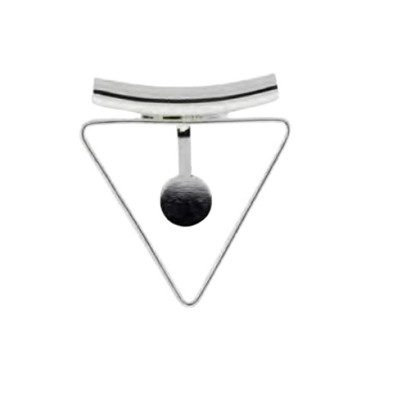 Triangle Mount Bails 35mm Silver Plate pack of 2