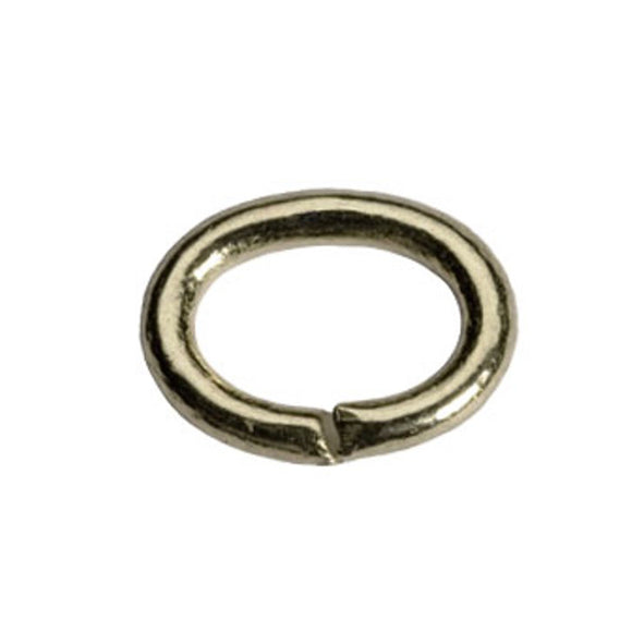 5mm Medium Duty Oval Jump Rings Gold or Silver Plate
