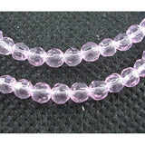 4mm Faceted Round Glass Beads Pack of 50