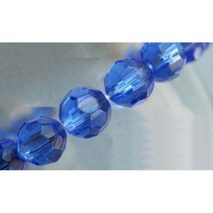 6mm Faceted Round Glass Beads Pack of 50