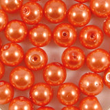 10mm Round Glass Pearl Beads Pack of 50