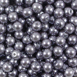 6mm Round Glass Pearl Beads Pack of 50
