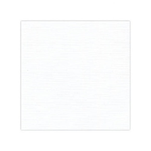 Linen Effect White Topper Square 12.8 x 12.8cm Pack of 25