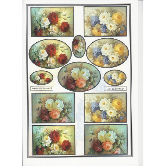 Pretty Bouquets Mini Topper Sheet