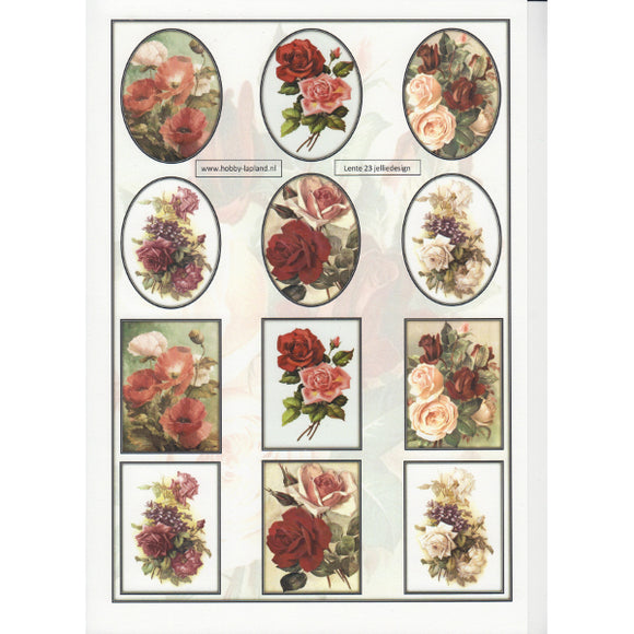 Rose Bouquets Mini Topper Sheet
