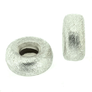 Brushed Silver Donut Spacer 14mm Pack of 5