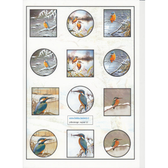 Kingfisher Mini Topper Sheet