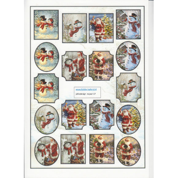 Santa & Snowmen Mini Topper Sheet