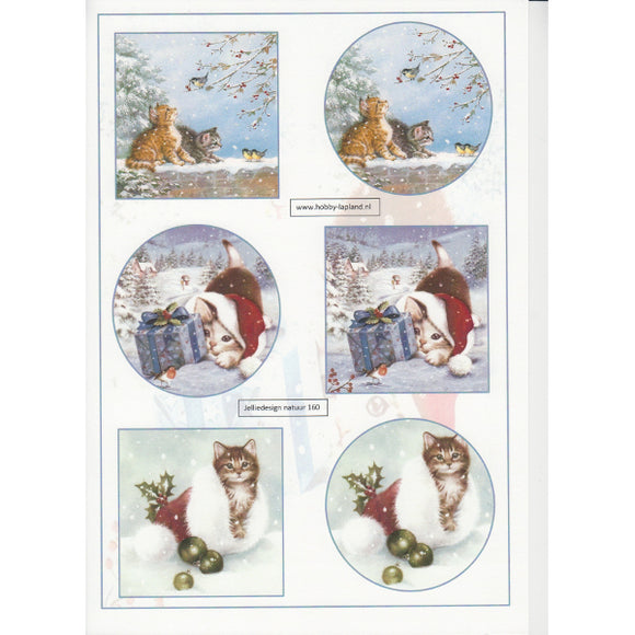 Christmas Kittens Topper Sheet