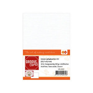Linen Effect White Topper A6 Pack of 10