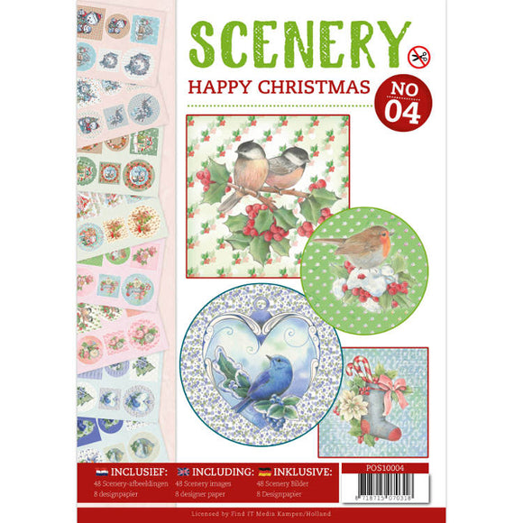 Push Out Book Scenery 4 - Happy Christmas