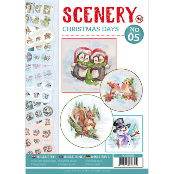 Push Out Book Scenery 5 - Christmas Days