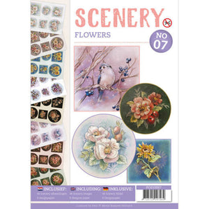 Push Out Book Scenery 7 - Flowers