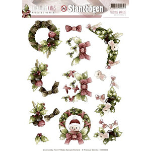 Charming Christmas Die Cut Decoupage - Wreaths