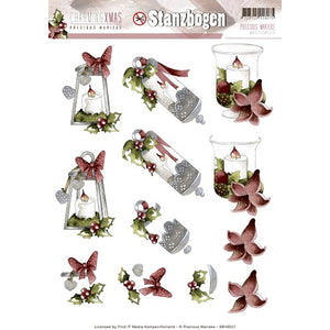 Charming Christmas Die Cut Decoupage - Candles