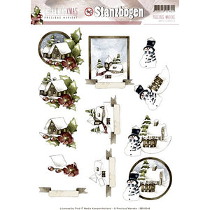 Charming Christmas Die Cut Decoupage - Country