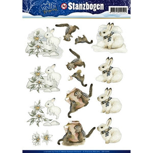 Winter Wonderland Die Cut Decoupage - Winter Animals