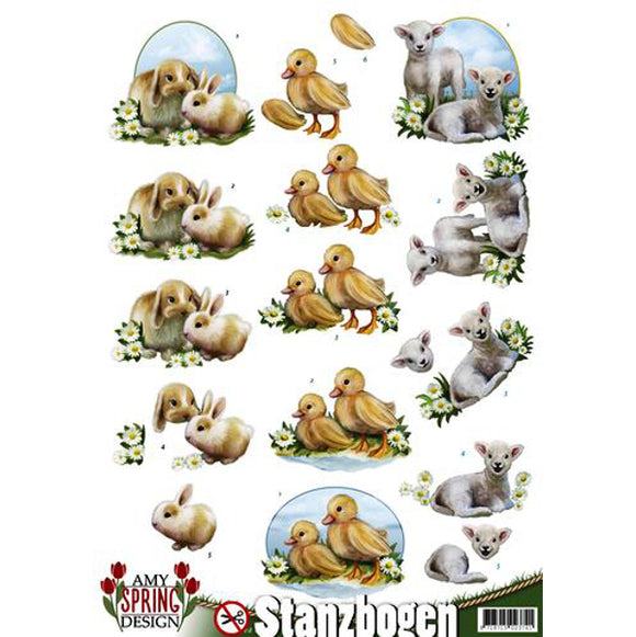 Spring Collection Die Cut Decoupage - Animals