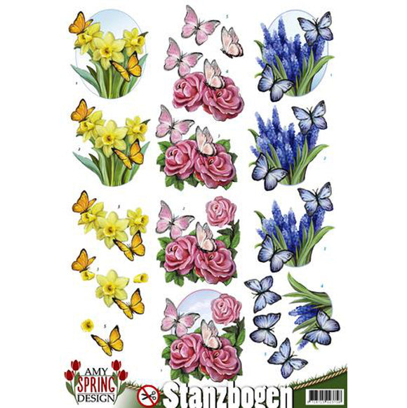 Spring Collection Die Cut Decoupage - Butterflies