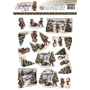 Christmas Greetings Die Cut Decoupage - Landscapes