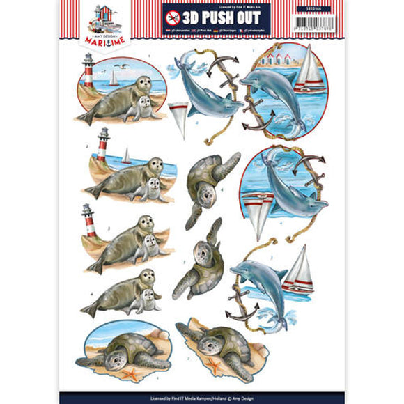 Maritime Die Cut Decoupage - Sea Animals