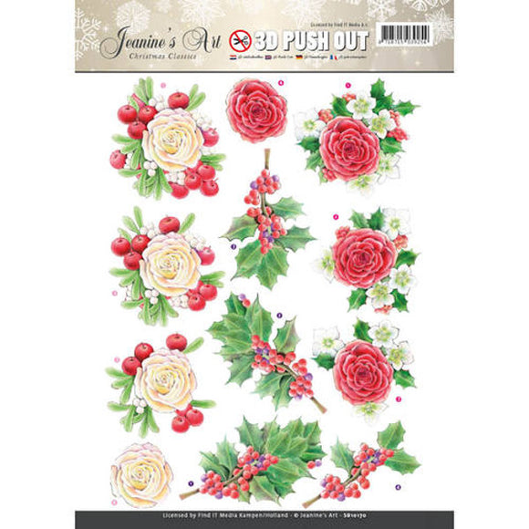 Christmas Classics Die Cut Decoupage - Roses