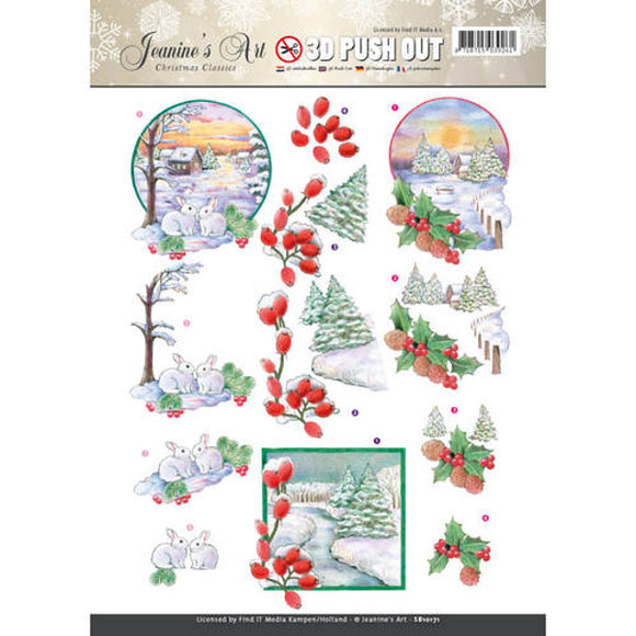 Christmas Classics Die Cut Decoupage - Winter Scene