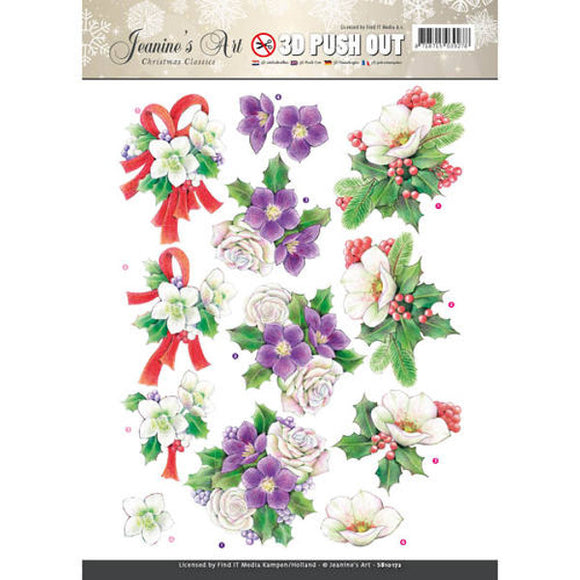 Christmas Classics Die Cut Decoupage - Christmas Rose