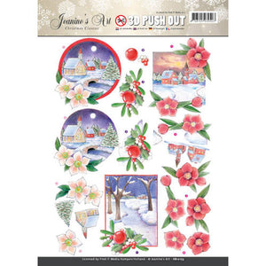 Christmas Classics Die Cut Decoupage - Village Scene