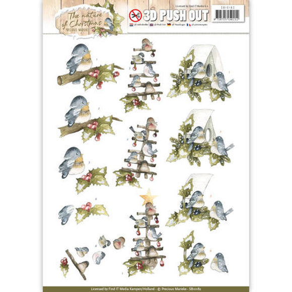 The Nature of Christmas Die Cut Decoupage - Christmas Birds