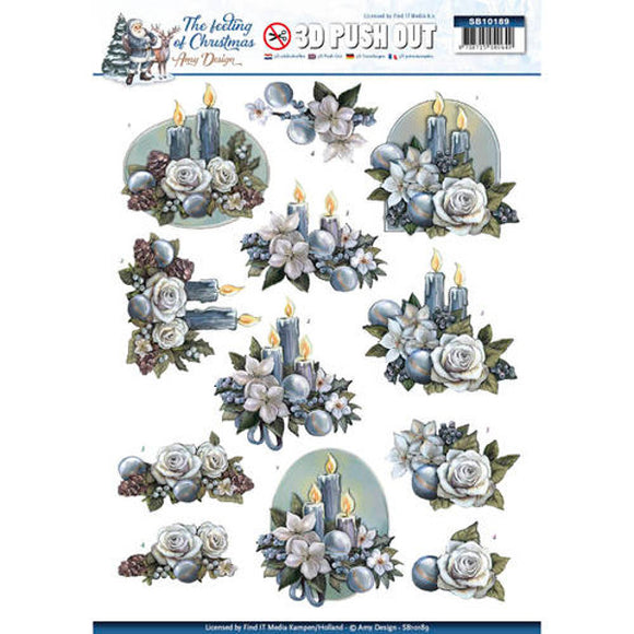 The Feeling of Christmas Die Cut Decoupage - Candles