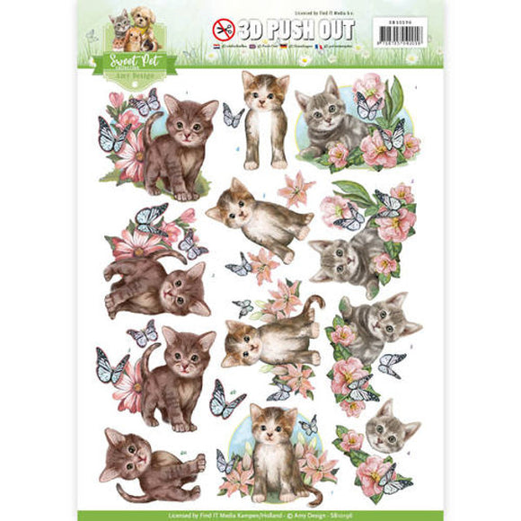 Sweet Pets Die Cut Decoupage - Sweet Cats