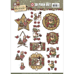 Celebrating Christmas Die Cut Decoupage - Christmas Girls