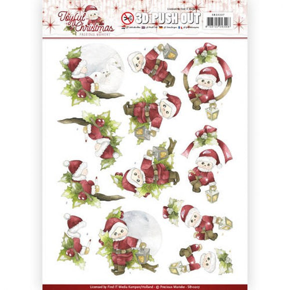 Joyful Christmas Die Cut Decoupage - Santa