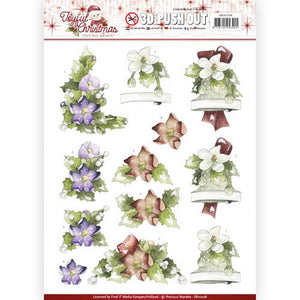 Joyful Christmas Die Cut Decoupage - Christmas Roses