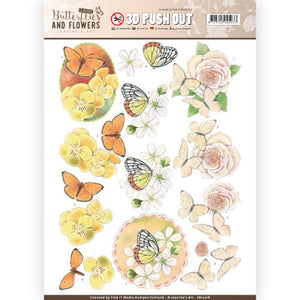 Butterflies & Flowers Die Cut Decoupage - Lovely Butterflies