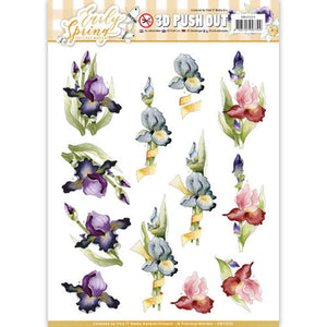 Early Spring Die Cut Decoupage - Early Irises
