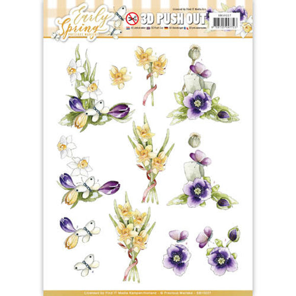 Early Spring Die Cut Decoupage - Early Daffodils