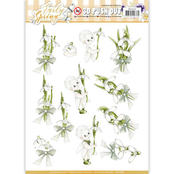 Early Spring Die Cut Decoupage - Early Snowdrops