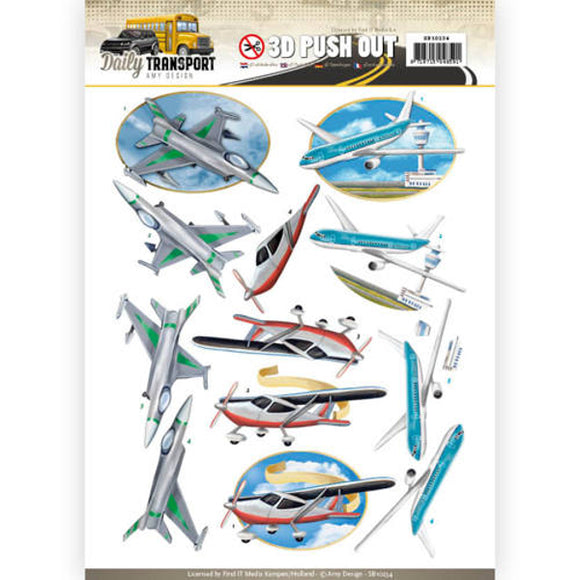 Daily Transport Die Cut Decoupage - Planes