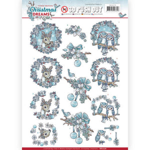 Christmas Dreams Die Cut Decoupage - Christmas Animals