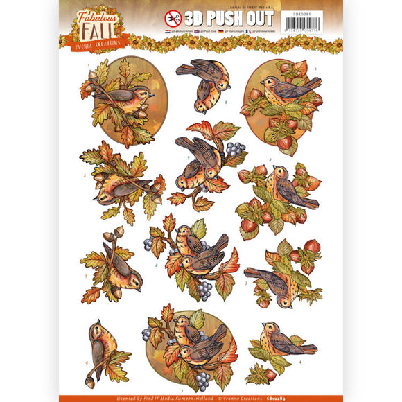 Fabulous Fall Die Cut Decoupage - Fall Birds